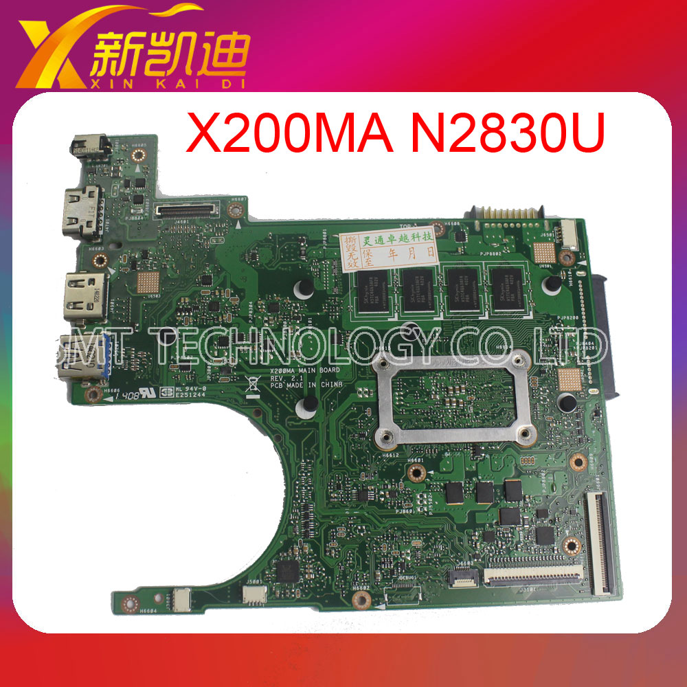 FOR ASUS X200MA mainboard Rev2.1 Processor N2830CPU 4G 90NB0401-R00030 fully test