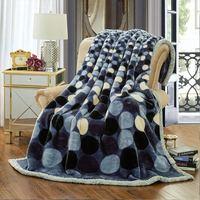 Blanket Ferret Cashmere Blanket Warm Blankets Fleece Plaid Super Warm Soft Throw On Sofa Bed Thicker2