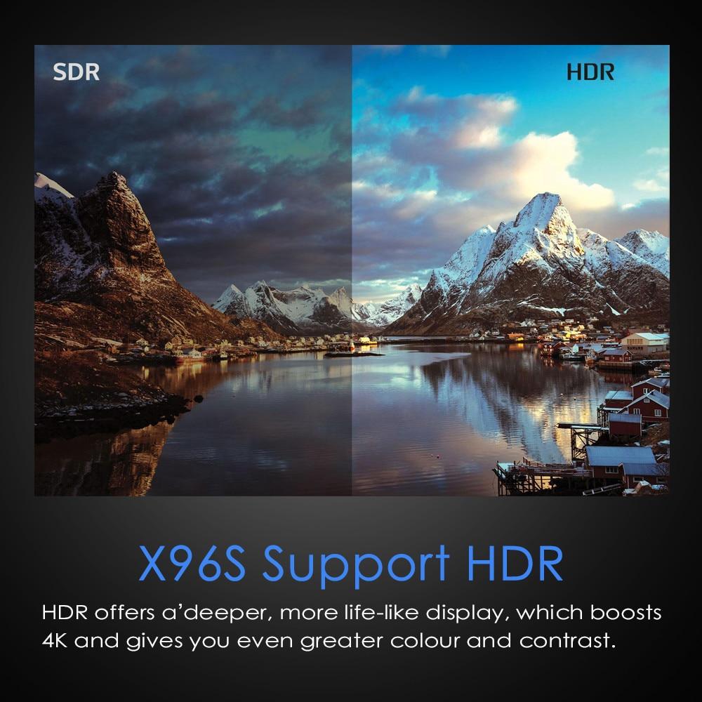 Smart 4K Android 8.1 TV Box X96S Amlogic S905Y2 DDR4 4GB 32GB X96 Mini PC TV Stick 5G WiFi Bluetooth 4.2 TV Dongle lecteur multimédia - 4