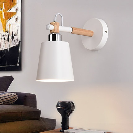 Simple Fashion Modern Wall Sconces Iron Wooden LED Wall Light Fixtures For Aisle Home Indoor Lighting Bedside Wall Lamp iwhd simple fashion modern wall sconce iron wood led wall light fixtures for aisle home indoor lighting bedside wall lamp