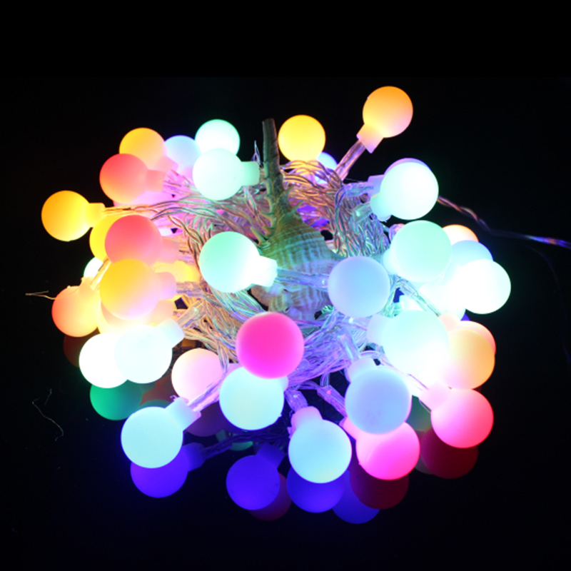 4M/10M LED Ball String Lights Battery Powered or AC EU plug-in Christmas String Light for Home Garden Lawn Party Decorations