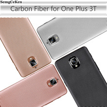 SemgCeKen case for oneplus 3 3T one plus 3t t ultra thin soft silicone silicon tpu carbon fiber coque phone back cover etui
