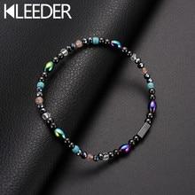 KLEEDER Магнитный браслет для щиколоток с камнем терапия потеря веса похудение бисером ножные браслеты для женщин модные ювелирные изделия забота о здоровье лодыжки браслеты