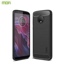 MOFi For Motorola Moto G6 Case Cover Shockproof Back Fiber Silicon TPU Protector Phone Coque Cases Shell