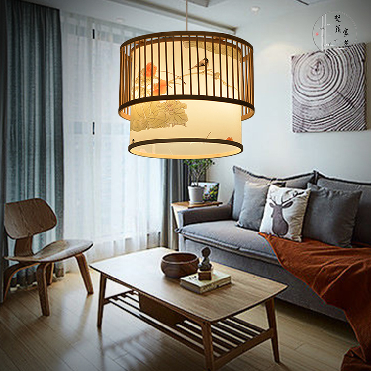 new Chinese bamboo creative Japanese restaurant cafe Pendant Lights southeast pastoral Pendant lamp ZA627 ZL118 southeast asian chinese antique tea bamboo rattan lamp chandelier lamp box farmhouse inn lights ya7265