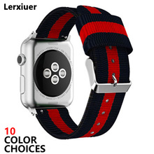 Nato strap For Apple Watch band 42mm/44mm iwatch band 38mm/40mm apple watch 4 3 correa woven nylon wrist bracelet Accessories цена и фото