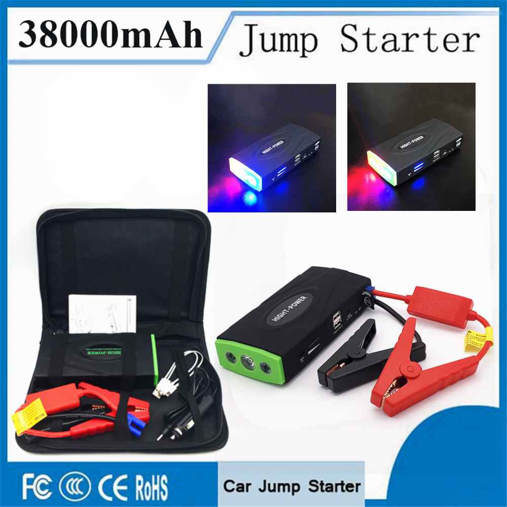 High Capacity 38000mAh Car Jump Starter 600A 12V Portable Starting Device Power Bank Car Starter For Car Battery Booster Charger