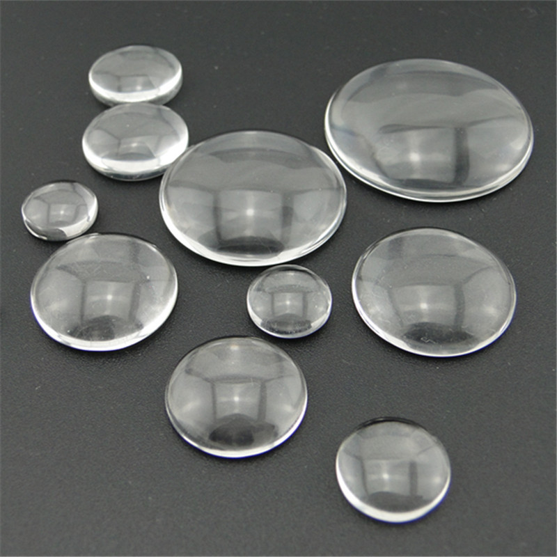 Wholesale Clear Round Glass Dome Seals Crafts Cabochon Embellishments 20mm