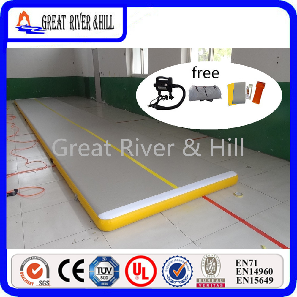 Great river & hill jumping mats air track high quality with fedex shipping and tax 8m x1m x10cm