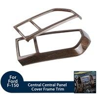 100% Новый оригинальный центральный панель крышка рамки отделка Подходит для Ford F150 2015 + ABS древесины автомобиля салонные аксессуары
