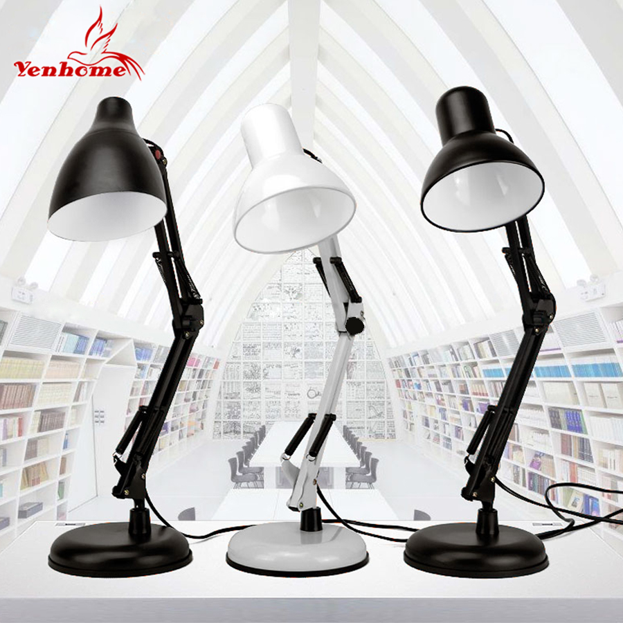 New USB Power LED Office Desk Lamp Mechanical Arm Architect Lamp with Clamp Adjustable LED Table Lamp Study Lamp Table Lighting