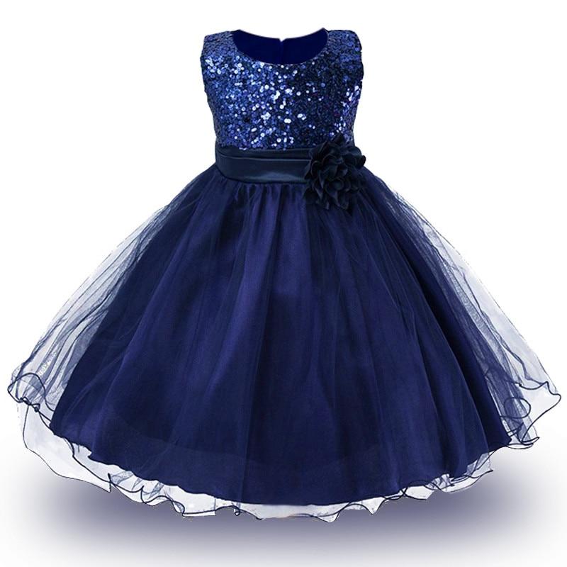 2-14yrs Adolescente Vestido de la Princesa Del Verano De la Muchacha de la Navid