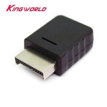 Ranura de conector de interfaz de enchufe de puerto de conexión para cable AV PS2, gran calidad, lote