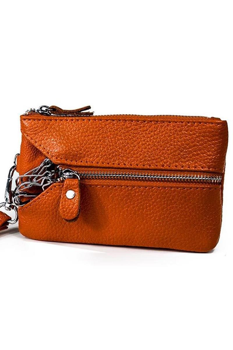 5pcs Women s Leather Wallet Orange