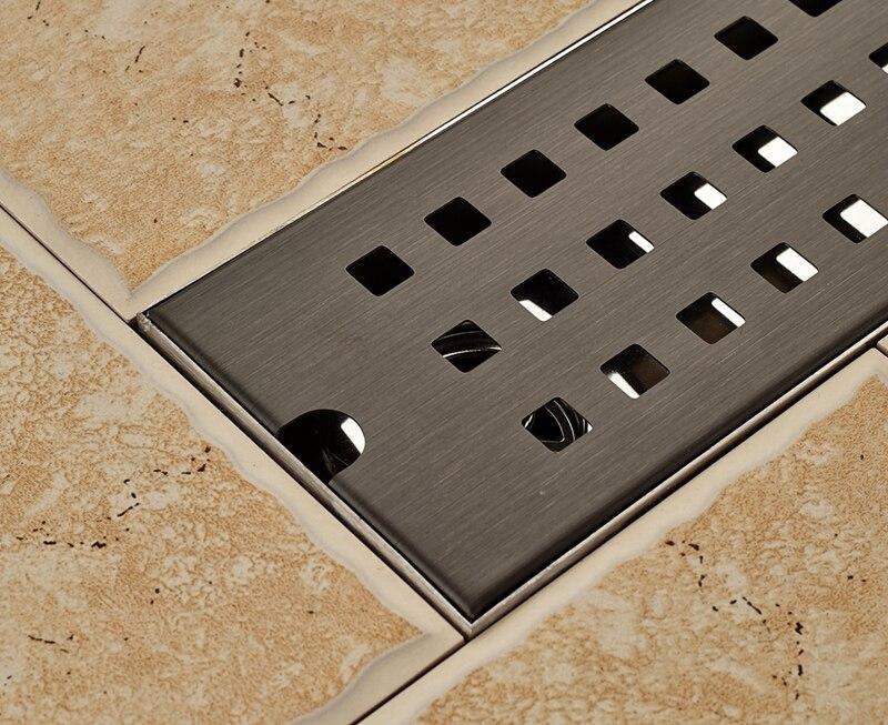 Olie gewreven brons badkamer afvoer cm grid ground lekkage rvs