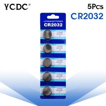 Cheap 5x cr2032 3v lithium battery cr 2032 Button Coin Cells Batteries CR2032 DL2032 KCR2032 5004LC pilha cr2032 batteries