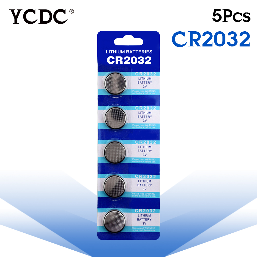 все цены на Cheap 5x cr2032 3v lithium battery cr 2032 Button Coin Cells Batteries CR2032 DL2032 KCR2032 5004LC pilha cr2032 batteries