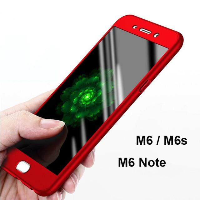 2018 Anti-Shock Plastic Hard 360 Full Protect Meizu M6 M6S M6 Note M5 M3 Note Meizu Pro 7 Tempered Glass Back Cover Meizu Cases