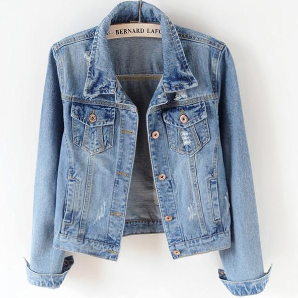 S-5XL! Denim Jacket Women jeans   coat