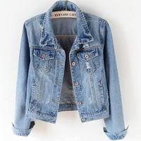 S 5XL! Denim Jacket Women jeans coat