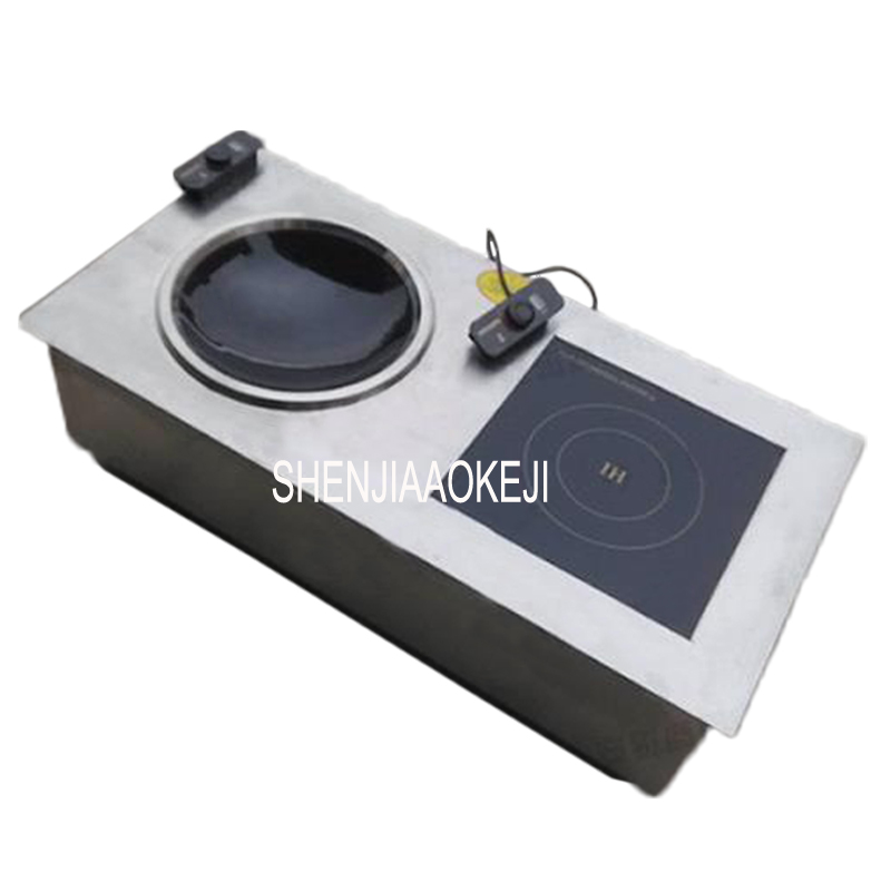 220v ceramic electric double burner induction cooker Embedded concave induction cooker Concave plane frying furnace 1pc 220v 50hz hrz288 home concave induction cooker 3000w high power blasted touch screen embedded battery stove 26 5cm concave
