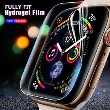 9D Anti Shock Waterdichte Volledige Cover Beschermende Film Voor iWatch 38mm 42mm 44mm 40mm Screen protector Zachte Film Voor Apple Horloge 4