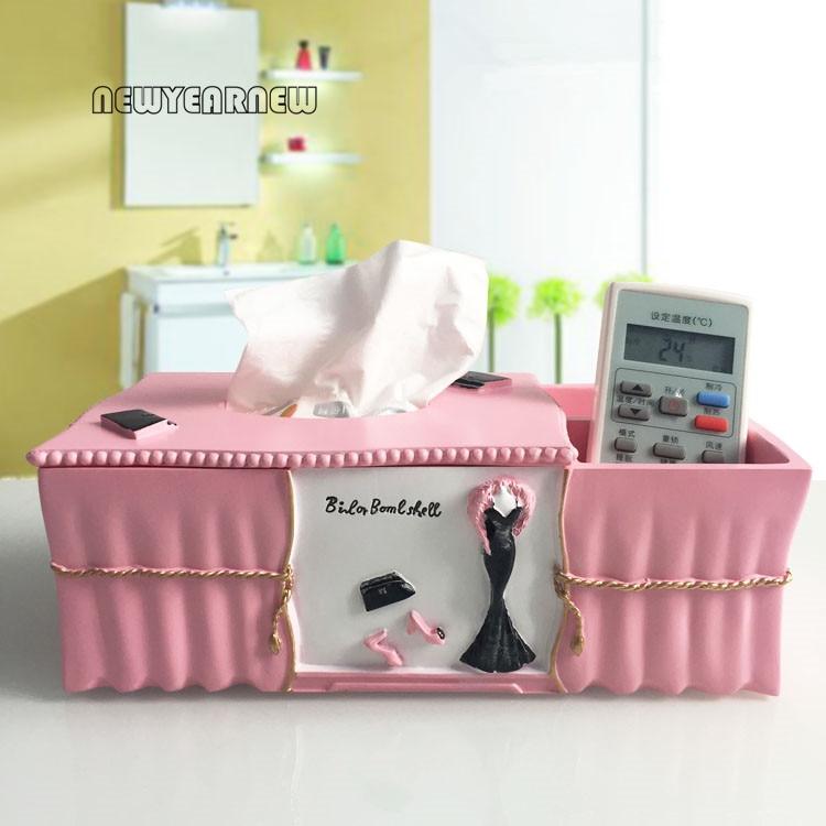 Cajas de tejido creativas de resina de newyear New Europa caja de regalo de boda envío gratis-in Figuras y miniaturas from Hogar y Mascotas    1