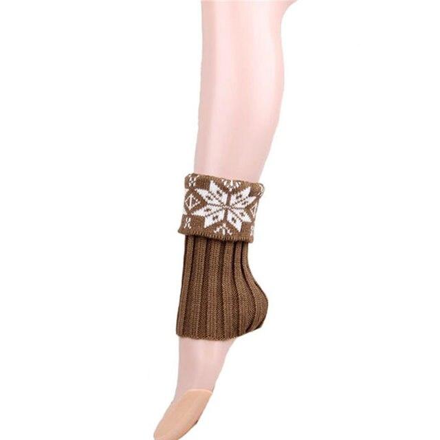 Tienda Online Señoras patrón de nieve calentador de la pierna del ...