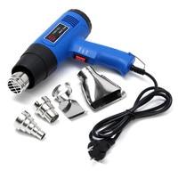 Electric Heat Gun Hot Air Gun 1500W Dual Temperature Metal Nozzle Adjustable Electric Power Tools With 4 Nozzles EU Plug