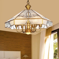 Authentic chandelier copper full European pendant lamp style lamp antique restaurant leisure American bedroom lamp LU623 ZL140