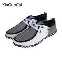 Plus Size 46 47 Spring Canvas Fashion Men Casual Shoes Rubber Breathable Men Flat Shoes Casual