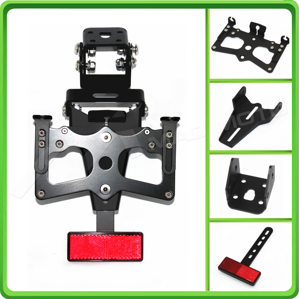 For Kawasaki Ninja ZX6R ZX 6R ZX 6R 2009 2010 2011 2012 Motorcycle Adjustable Fender Plate Bracket License Plate Holder