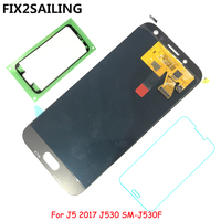 FIX2SAILING Super AMOLED LCD Display 100 Tested Working Touch Screen Assembly For Samsung Galaxy J5 2017