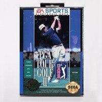 PGA Tour Golf II Game Cartridge 16 Bit MD Game Card With Retail Box For Sega