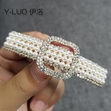 Women head wear classic small vintage hair barrettes rhinestone clip pearl accessories