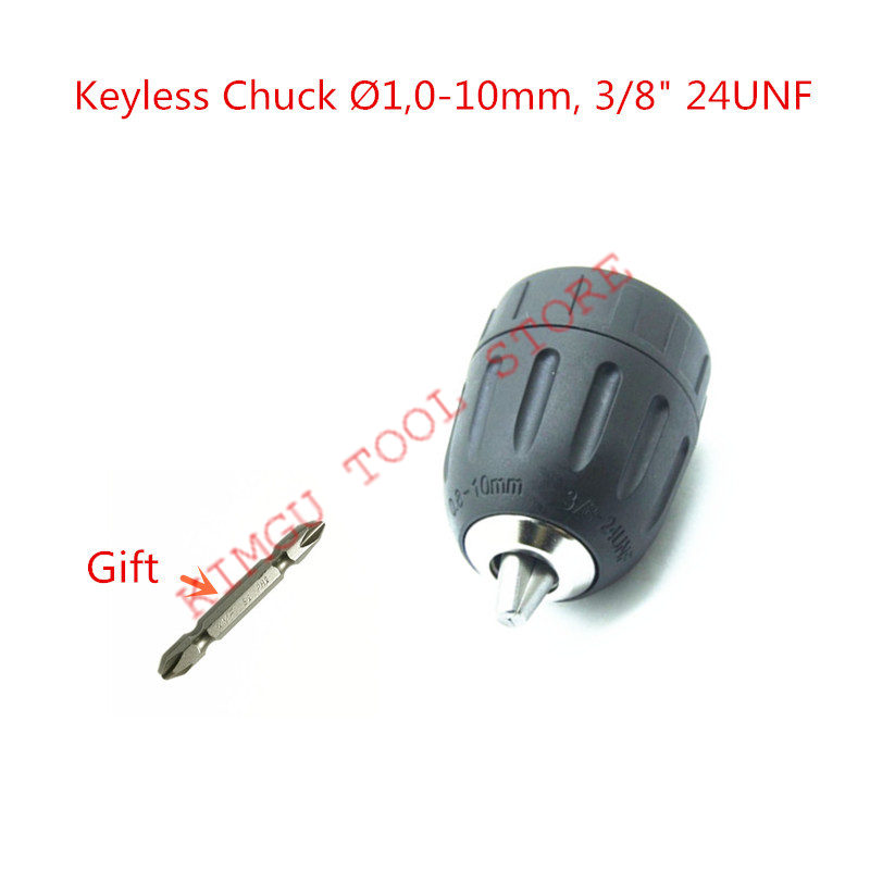 0-10mm  3/8-24UNF Keyless Impact Drill Chuck For MAKITA 6261D 6271D 6281D 6281DWE 6271DWE HP330D HP347DWE DHP343 6280D 6270D