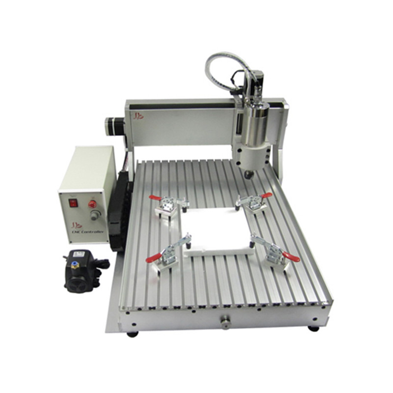<font><b>CNC</b></font> <font><b>6090</b></font> <font><b>4</b></font> <font><b>Axis</b></font> Mach3 2.2KW <font><b>cnc</b></font> router Metal Engraving Milling Machine Ball Screw Aluminum <font><b>CNC</b></font> frame image