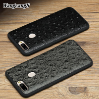 Wangcangli All inclusive soft case for OPPO R15 ostrich pattern mobile phone protection case for OPPO series