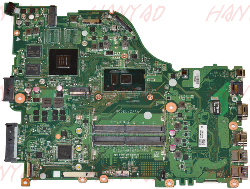 DAZAAMB16E0 For ACER E5-575G Laptop Motherboard With i5-6200U CPU <font><b>940MX</b></font> 2GB NBGHG11004 NB.GHG11.004 DDR4 100% Tested image