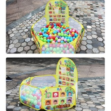 Portable Baby Playpen Children Outdoor Indoor Ball Pool Play Tent Kids Safe Foldable Game Pool of Balls for Kids Gifts foldable baby playpen hexagon star moon balls pool pit indoor outdoor children baby toy game play house kids gift play tent