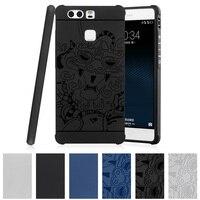 TPU Soft Case For Huawei P9 P 9 EVA L09 L19 L29 CL00 3D Relief Case