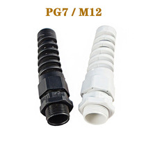 Нейлоновые кабельные сальники PG7 M12 Водонепроницаемые кабельные разъемы Резьбовая втулка резиновая проводка трубопровод IP68 анти-изгиб Пластиковый кабель sleev