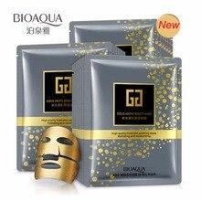 ФОТО 30g * 5pcs bioaqua brand facial mask gold above beauty hydrating moisturizing face mask