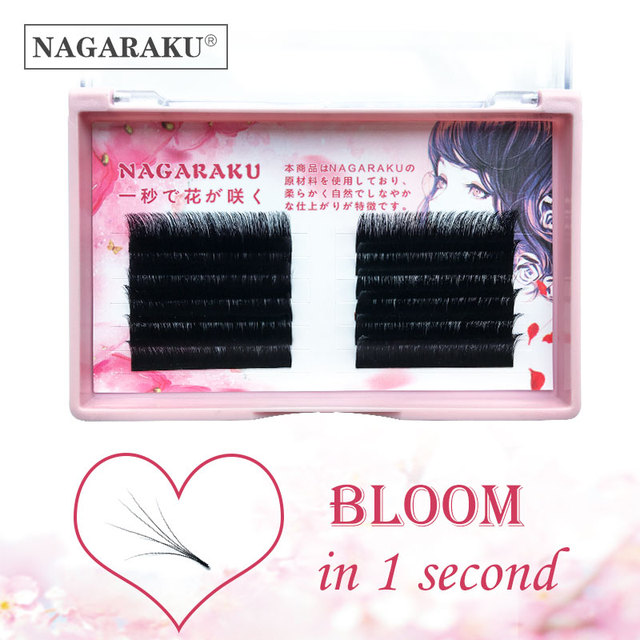 NAGARAKU Eyelashes Makeup Autofans Eyelash Easy Fanning  Lashes mega volume Fan Russian Volume Two tone Lashes Faux Cils