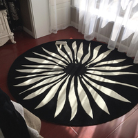 New Chinese European American IKEA Round Carpet Living Room Coffee Table Bedroom Study Room Computer Chair Hanging Basket Carpet