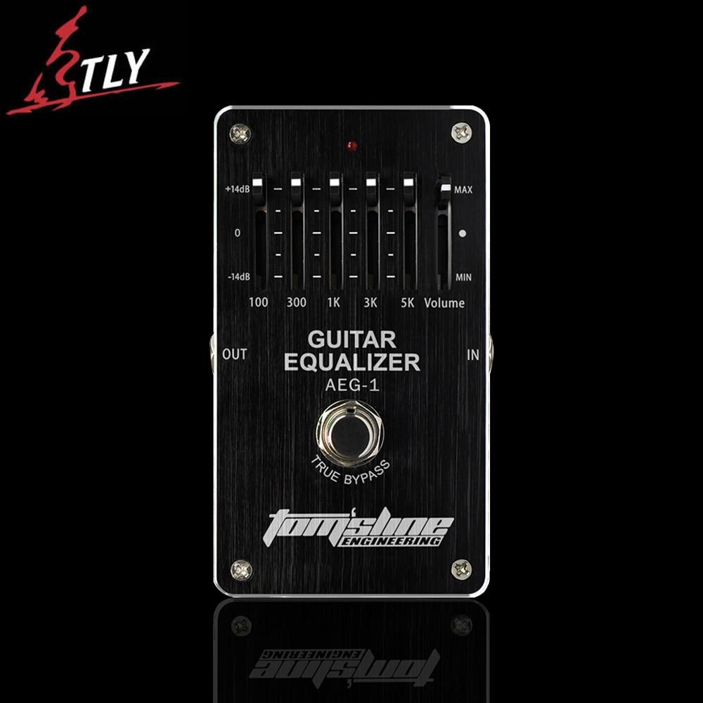 AROMA AEG-1 Guitar 5 bands Equalizer Pedal Special for Electric Guitar Low power Premium Analogue Effect педаль compressor и equalizer strymon ob 1