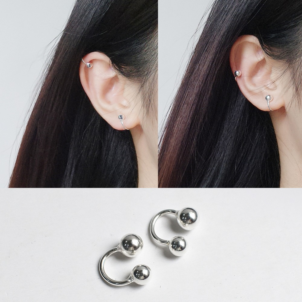 925 Sterling Silver Non Piercing Ear