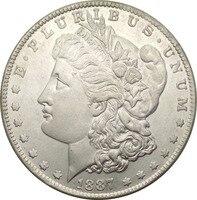 Untied States 1887 One Dollar Đồng Usd Morgan 90% Bạc Sao Chép Coins/Chất Lượng Cao