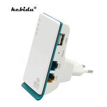 kebidu EU/US plug 300Mbps Portable Wireless-N Router Wifi Repeater Extender