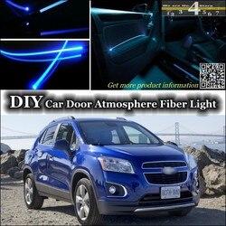 Dla Chevrolet Trax Holden Trax wnętrze Ambient Light Tuning atmosfera światłowód zespół światła drzwi Panel oświetlenia strojenia